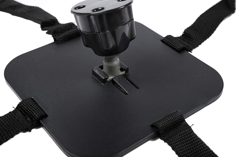 Andalus Brands Espejo retrovisor del asiento trasero con capacidad de maniobra de 360 grados para beb/é Paquete de 1 Negro