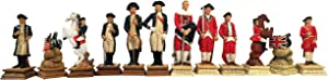 WE Games Patriotic American Revolutionary War Chess Pieces – 3.5 inch King
