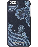 Michael Kors Womens iPhone 6 Fitted Cell Phone Case Navy O/S