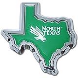 University Of North Texas Chrome Shape Of Texas Auto Emblem
