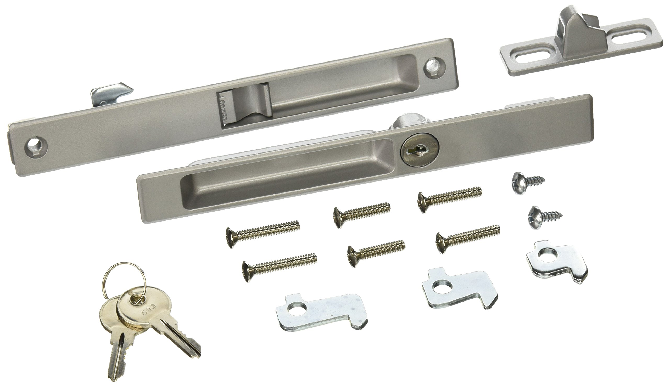 Wright Products VK1195 KEYED Flush MOUNT PATIO LATCH, ALUMINUM