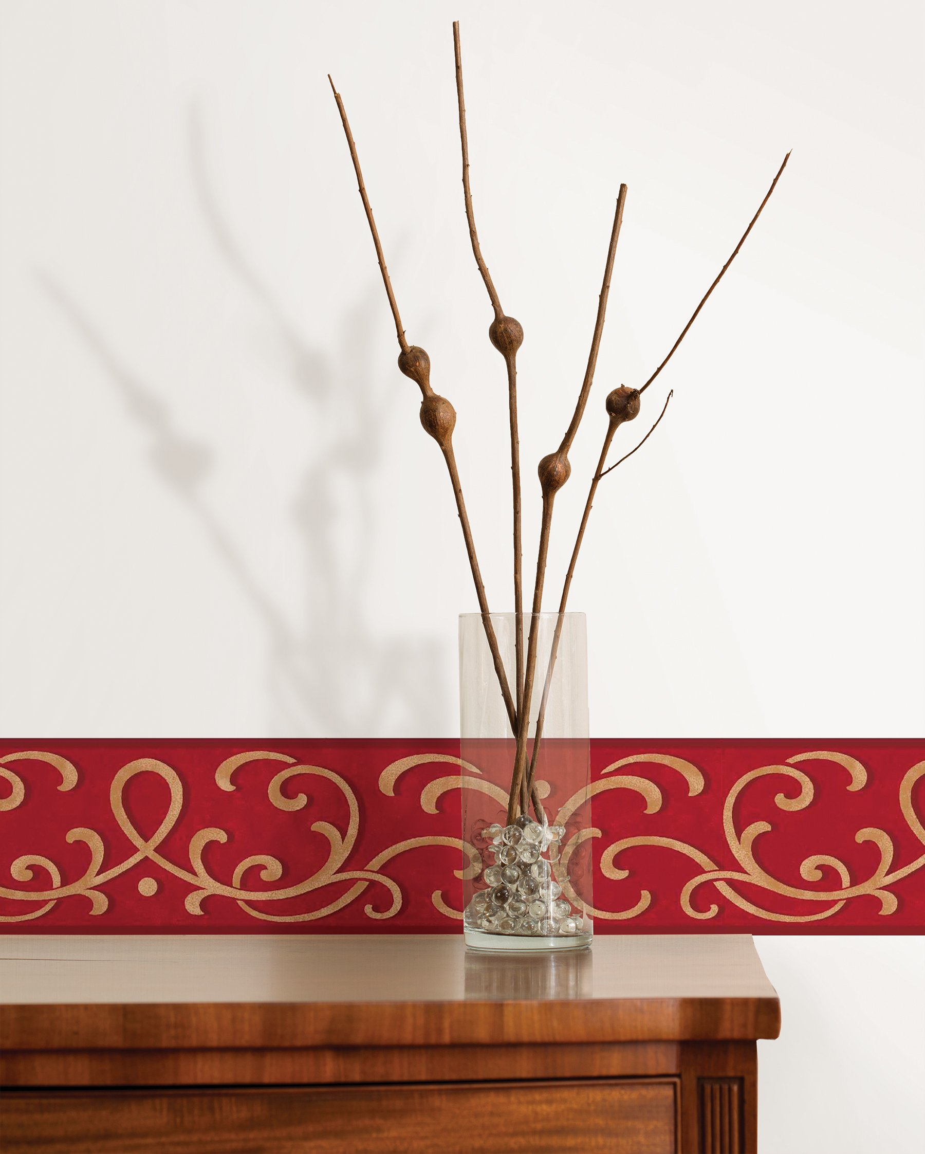 Fine Decor FDB07503S Red Carmen Peel & Stick Border by Fine Decor (Image #2)