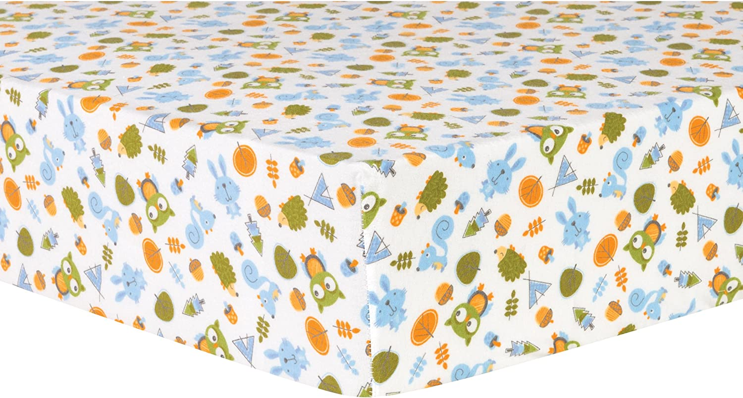 Trend Lab Animal Tepee Deluxe Flannel Fitted Crib Sheet Amazon Co Uk Baby