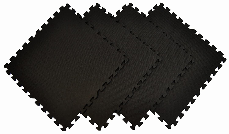 Wonder Mat Quality Multipurpose Anti-Fatigue Extra Thick Mats Set of 4 , Black, 2 x 2