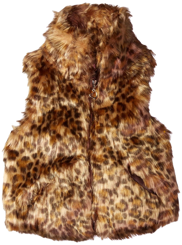black Urban Republic Toddler Ur Girls Faux Fur Vest 2T