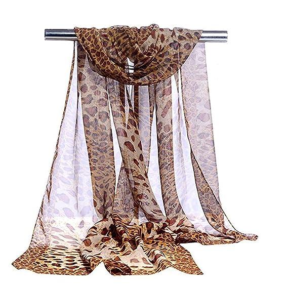 Bufanda de Leopardo Estampado de Leopardo de Moda Bufandas ...
