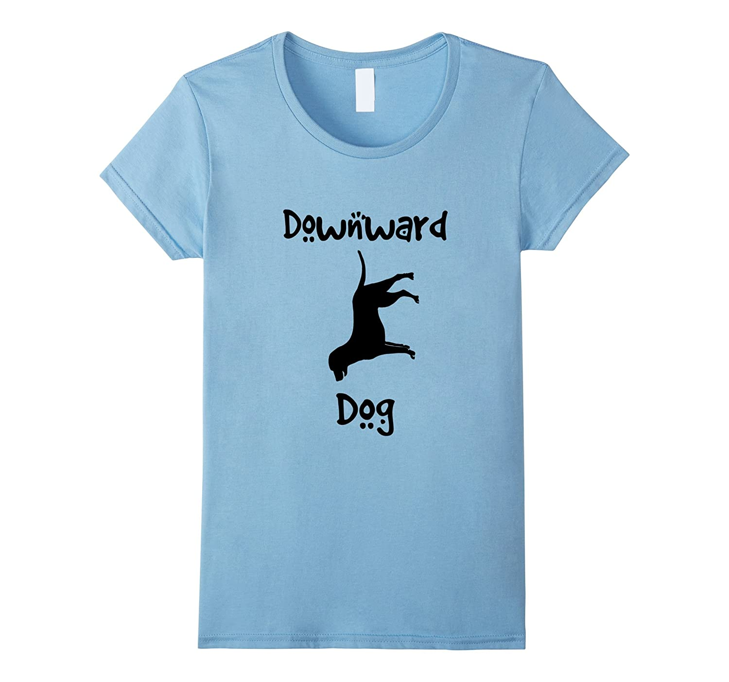 Cute Downward Dog Yoga Tee Shirt
