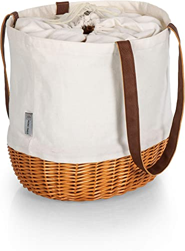 Picnic Time – A Picnic Time Brand 203-00-187-000-0 Coronado Willow Tote Picnic Baskets, Beige Canvas