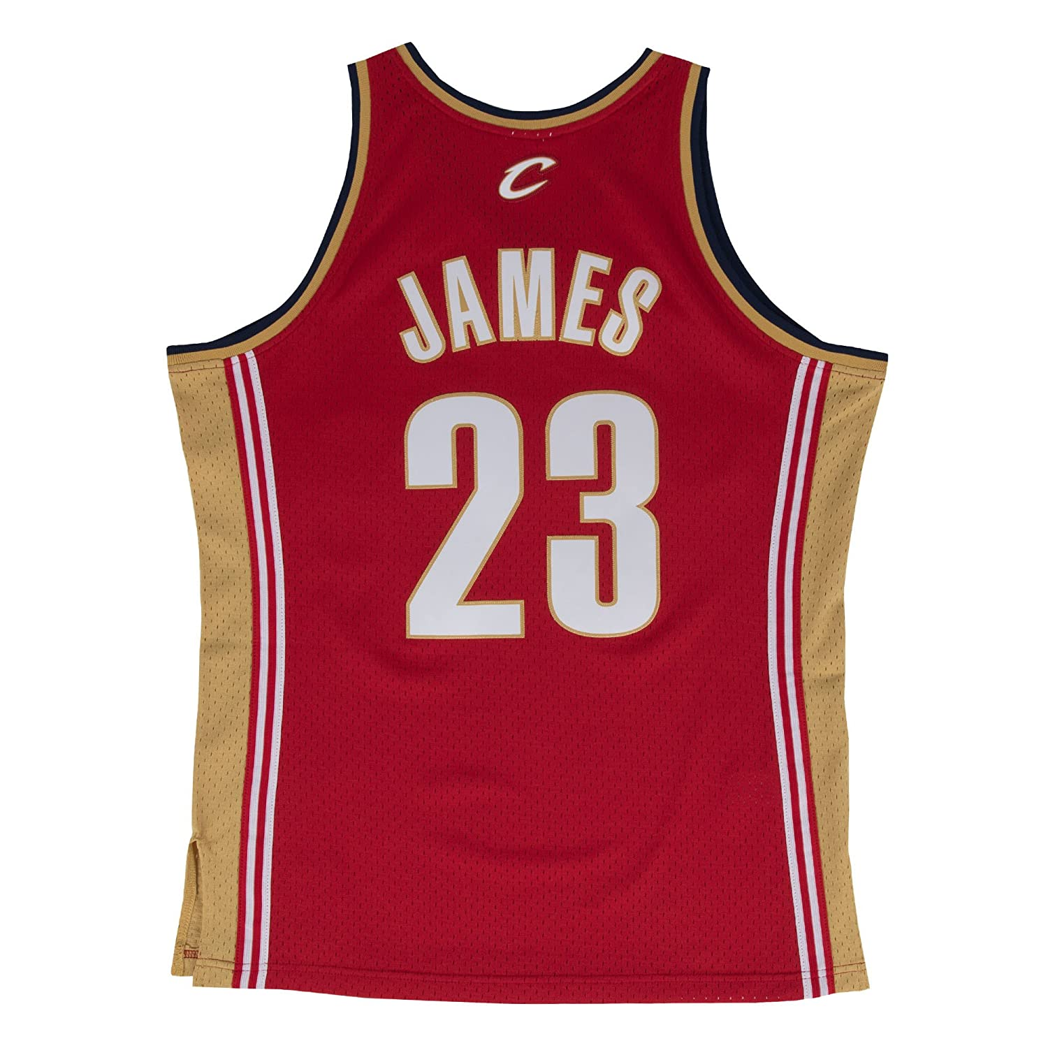 bd2e12adc Amazon.com : Lebron James Cleveland Cavaliers Mitchell and Ness Men's Red  Throwback Jesey : Clothing
