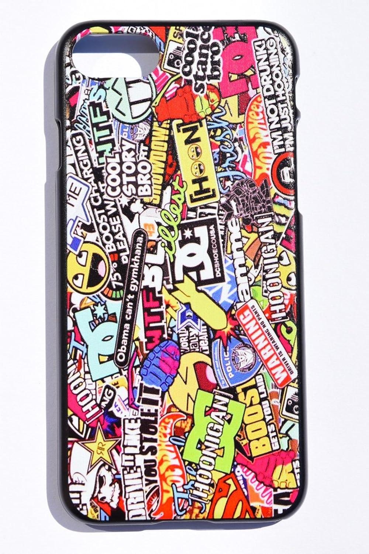 180c8bea78 Amazon | ボム ステッカー ロゴ小 iPhoneケース シリコン ホットウィール DC ロックスター アベンジャーズ スーパーマン ( iPhone6 / iPhone6s, ブラックシリコン) ...