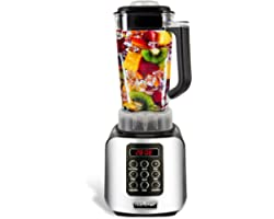 Digital Electric Kitchen Countertop Blender - Professional 1.7 Liter Capacity Home Food Processor Compact Blender for Shakes