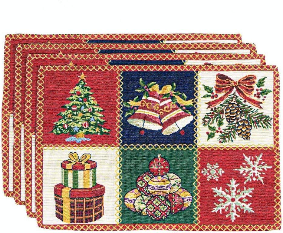 Homvare Vacaciones Tapestry – Juego de 6 manteles Individuales, diseño de Navidad: Amazon.es: Hogar