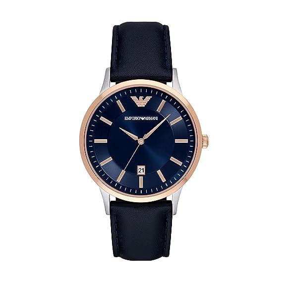 Emporio Armani Reloj para Hombre de Cuarzo con Correa en Cuero AR2506: Amazon.es: Relojes