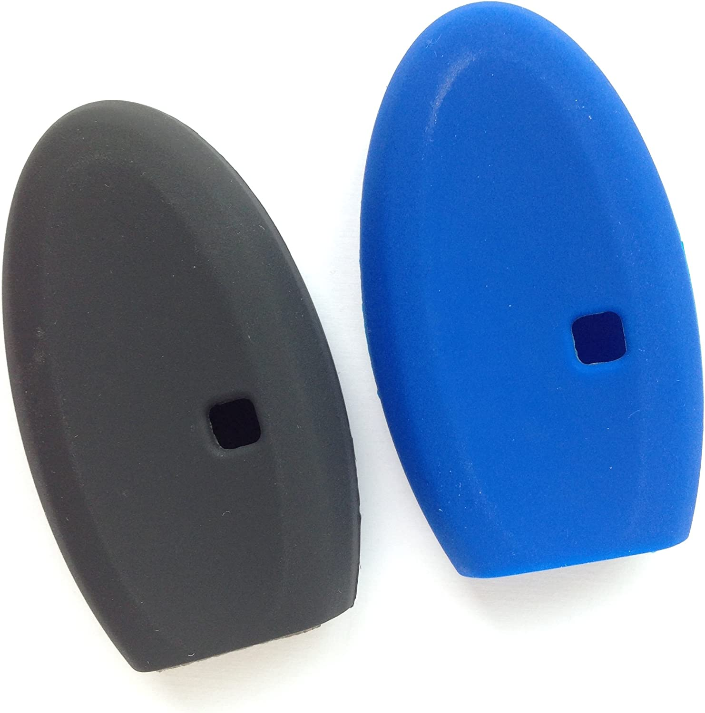 2pcs Key Protector for 2015 2017 2018 Infiniti Q50 2013 Infiniti JX35 2014-2018 Infiniti QX60 QX80 Smart Key Case 5bts Fob Skin Cover Key Jacket Sleeve Holder KR5S180144203 S180144014 S180144014