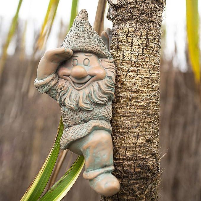 Pixie Face Wall Plaque Garden Decoration Lawn Ornament Elf Figure Sculpture Gift