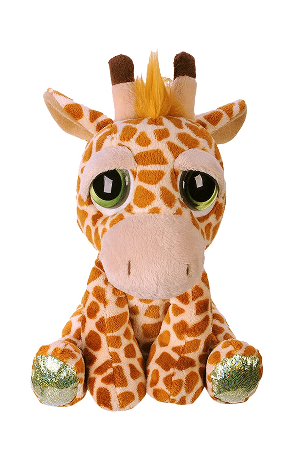 Suki Gifts Lil Peepers Fun Kenya Giraffe Plush Toy with Green Sparkle Accents, Medium 11076