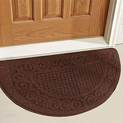 914f078453b4 Half Round Door Mat Entrance Rug Floor Mats - 20x31 inch