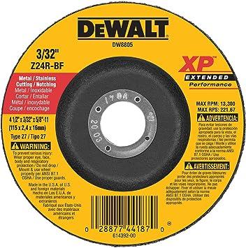 Amazon Com Dewalt Dw8805 4 1 2 Inch By 3 32 Inch By 5 8 Inch 11 Xp Cutting And Notching Wheel Home Improvement