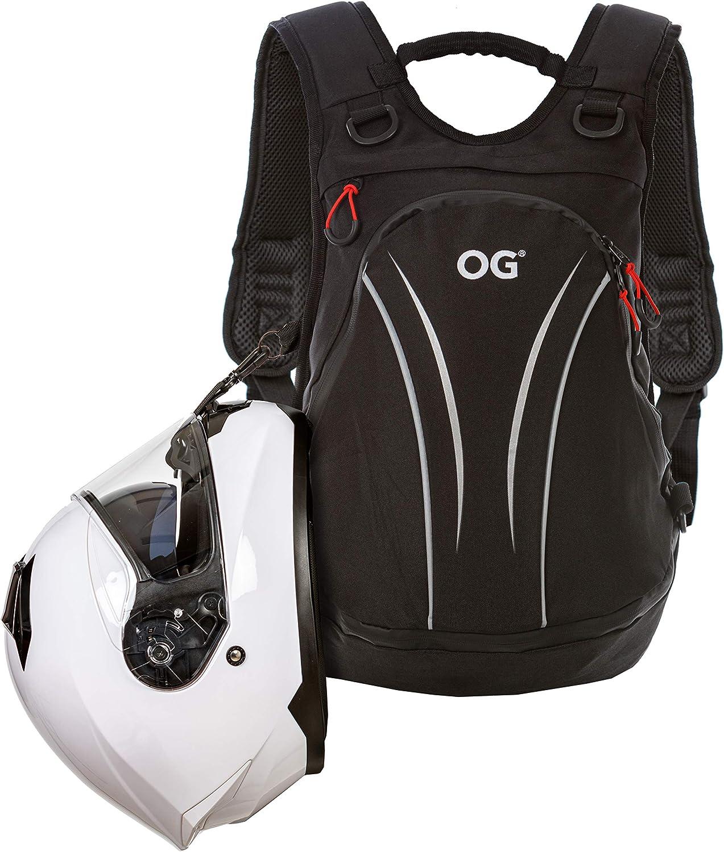 OG Online&Go Roadrunner Mochila Moto Negra Impermeable