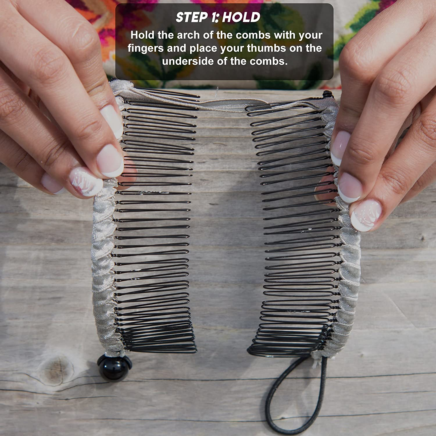 Amazon.com : Banana Clip by HairZing - Double Comb for Thick, Curly ...
