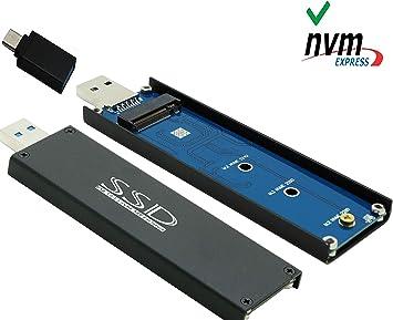 Sintech nVME - Caja Externa para SSD (USB 3.0, M.2 (NGFF), con ...