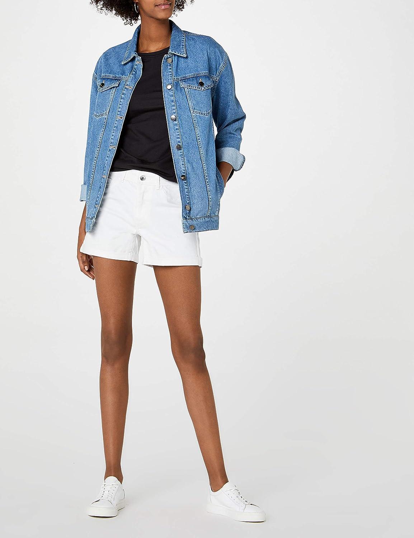 Bianco 44 Taglia Produttore: Medium Vero Moda NOS Vmhot Seven Nw DNM Fold Shorts Mix Noos Bright White Bright White