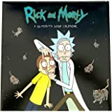 Adult Swim Rick and Morty 16 Month 2018 Wall Calendar