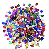 Blulu 100 g Mixed Sequins Assorted Shapes, Colors and Sizes