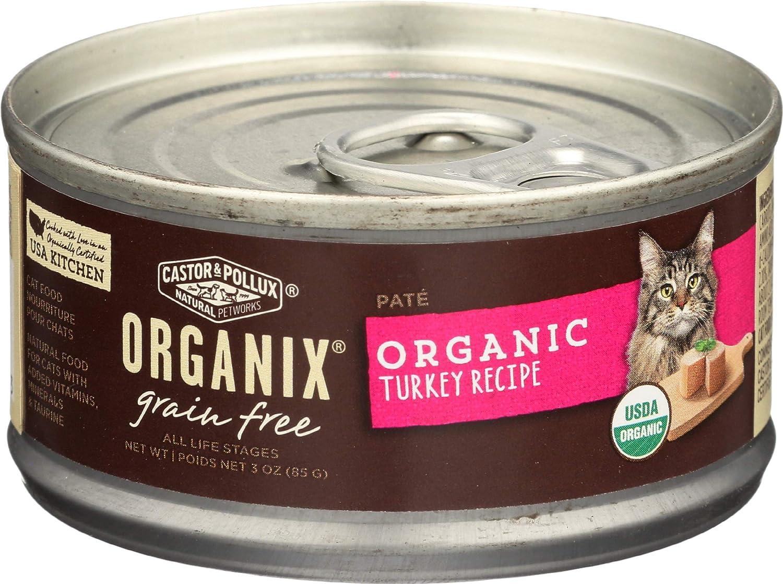 Castor & Pollux, Pet Food Organix Turkey Pate Recipe Organic, 3 Ounce