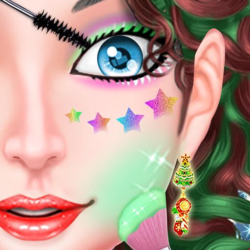 Naughty Girl Merry Christmas Makeup And Dressup -