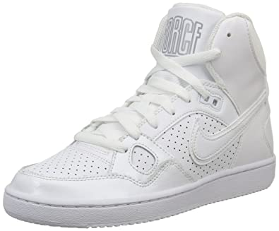 watch c4756 1d549 Nike WMNS Son of Force Mid Chaussures de Basketball Femme, Blanc White Wolf  Grey
