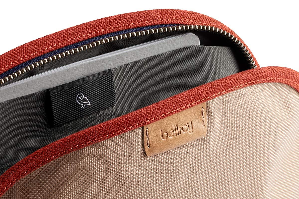 stylos, c/âbles, maquillage, effets personnels Bellroy Classic Pouch cuir et tissu cousu trousse basique