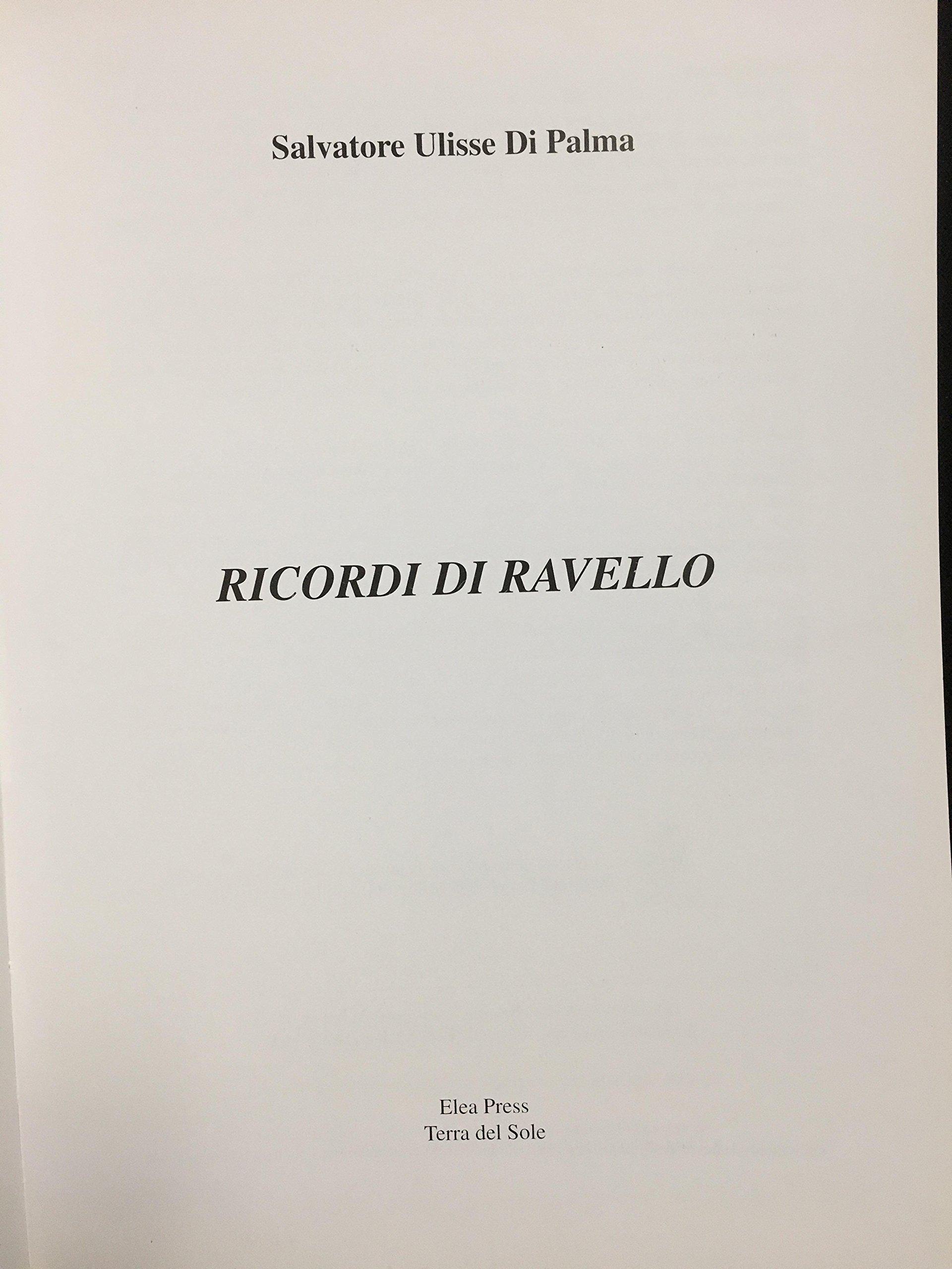 Amazon.com: Ricordi Di Ravello: Salvatore Ulisse Di Palma: Books