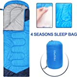 Sleeping Bags for Adults Women Men, 4 Season Waterproof Envelope Ultralight Mummy Sleeping Bag With Compression Sack