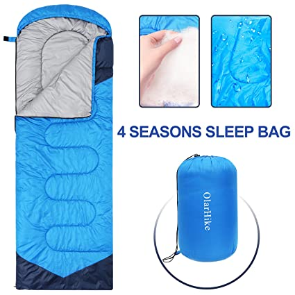 huge discount 1e278 57a82 Sleeping Bags for Adults Women Men, 4 Season Waterproof Envelope Ultralight  Mummy Sleeping Bag With Compression Sack