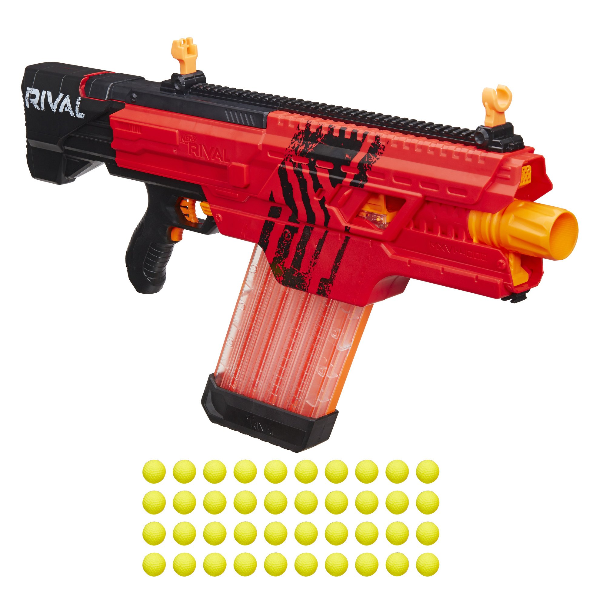 Nerf Rival Khaos MXVI-4000 Blaster (Red) by NERF (Image #1)