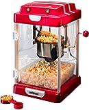 celexon CinePop CP1000 Popcornmaschine - 22x17,5x28,5cm - Rot-Retro/Kino-Design- Edelstahlkessel - Popcorn-Maker mit integriertem Rührwerk