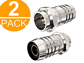 Ley 2 Pack TV Adaptador de Cable coaxial de Antena Conectores F satélite F Tipo Tornillo