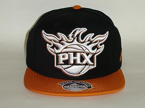 bebf42d6c7c33 Image Unavailable. Image not available for. Color  Adidas NBA Phoenix Suns  2 Tone Orange Black Snapback Cap