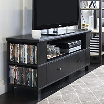 Amazon Com New 59 Inch Wide Black Television Stand With Front