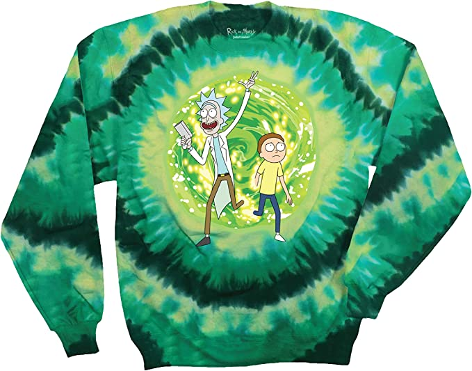Loose Baggy Oversized Crew Neck Graphic Top Rick /& Morty Portal Womens Boyfriend Fit T-Shirt S-XXL Official Merchandise Birthday Gift Idea for Ladies