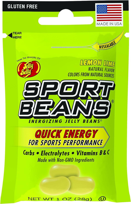 Jelly Belly Sport Beans, Energizing Jelly Beans, Lemon Lime Flavor, 24 Pack, 1-oz Each