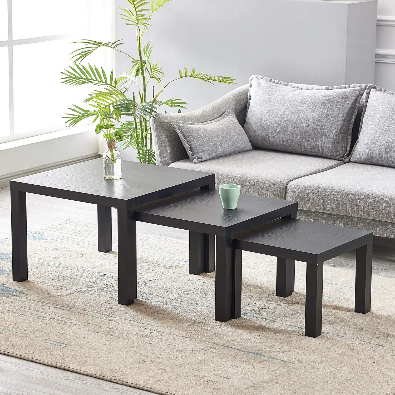 Luxes Black Set Of 3 Nesting Tables Coffee Table Modern Design Living Room Table Buy Online In Burundi At Burundi Desertcart Com Productid 138187426
