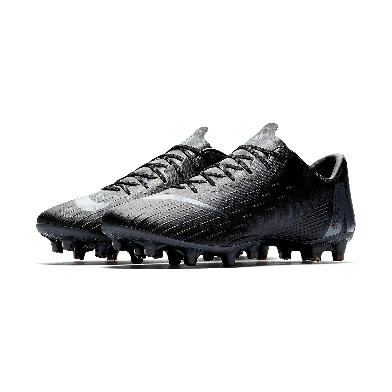 Nike Vapor 12 AG-Pro, Zapatillas Unisex Adulto 44.5 EU|Negro (Black/Black 001)