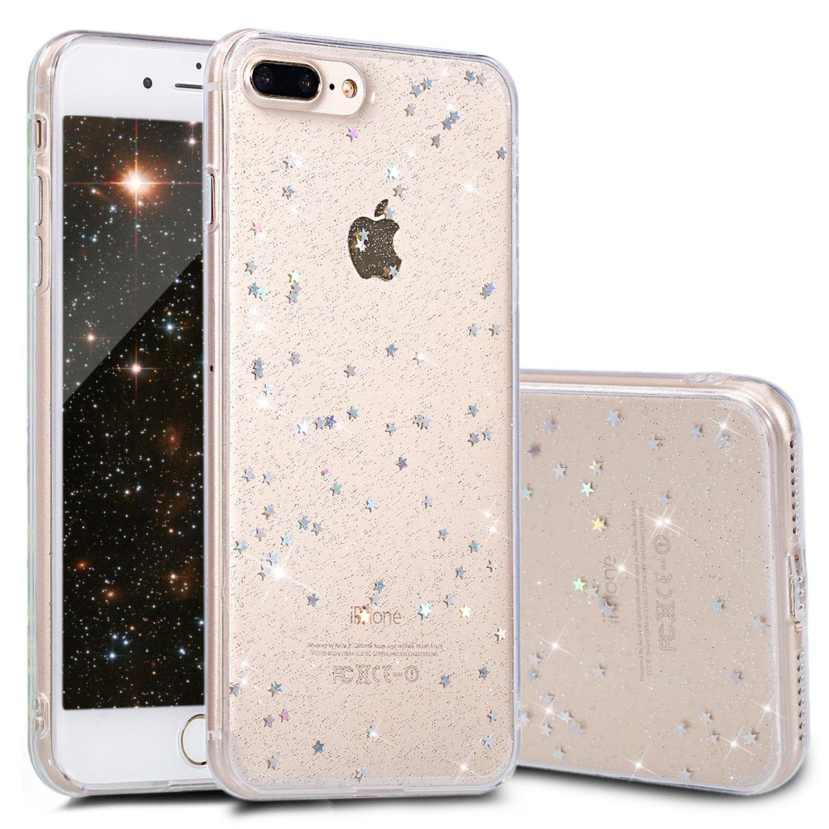 iPhone 7 -/8 Plusに対応するUkayfeケース iPhone、ウルトラスリムTPUラグジュアリークリスタルキラキラ光沢のあるケースカバーケースカバークリスタルクリアケースハウジング 7/8 - 透明 B01N4LKRRS, オールコムスイーツ王国:01958093 --- cooleycoastrun.com