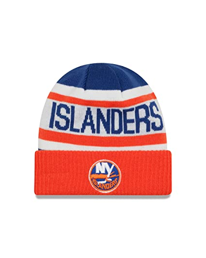 the latest c0c38 b37d5 NHL New York Islanders Biggest Fan 2.0 Cuff Knit Beanie, One Size, Orange