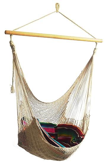 hammocks rada   handmade yucatan hammock chair   natural beige 100  soft thick cotton amazon    hammocks rada   handmade yucatan hammock chair      rh   amazon
