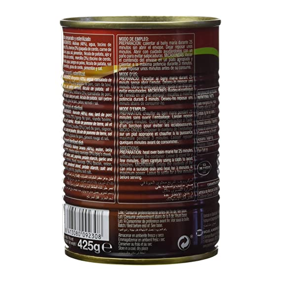Gourmet Fabada, Plato Preparado y Esterilizado - 425 g: Amazon.es: Amazon Pantry