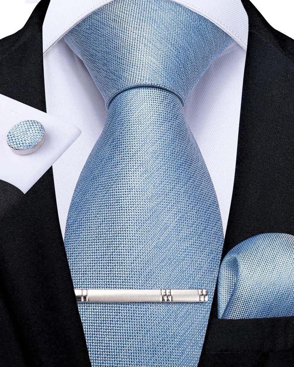 Tie Pocket Square Cufflinks Purple Black Swirl Set Individual 100/% Silk Wedding