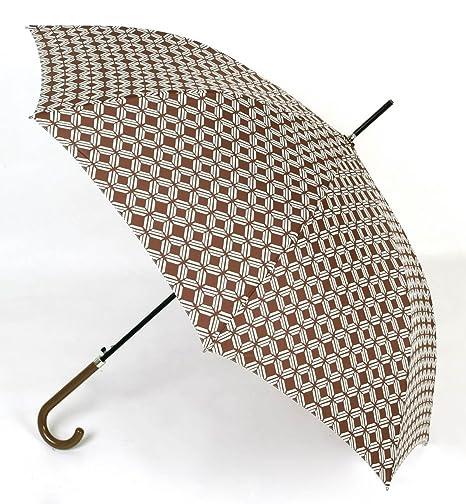 Paraguas Mujer Estampado Color Marrón. Paraguas Largo Vogue